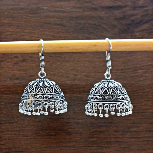 Craftsvilla Copper Finish Brass Traditional Meenakari Pearls Earrings