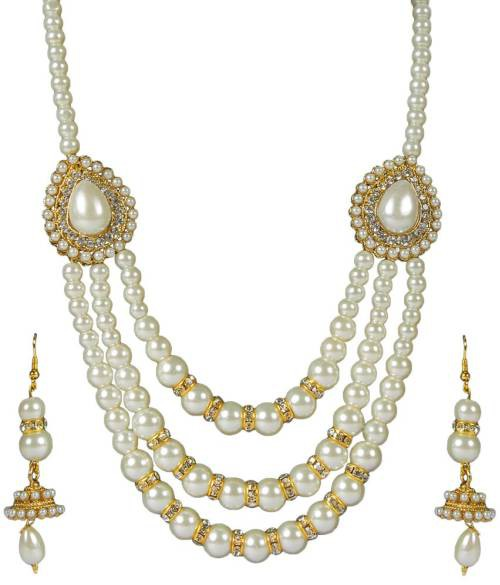Gold Plated Alloy Metal Traditional Hand Crafted Necklace Set