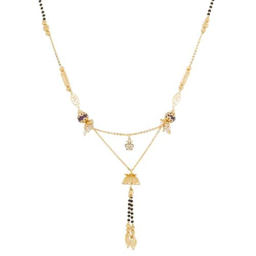 Craftsvilla Gold Plated Beads Traditional Mangalsutra