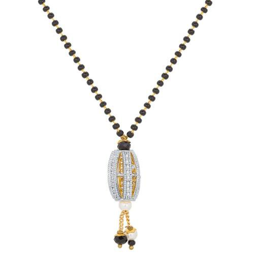 Craftsvilla Gold Plated American Diamond Traditional Mangalsutra