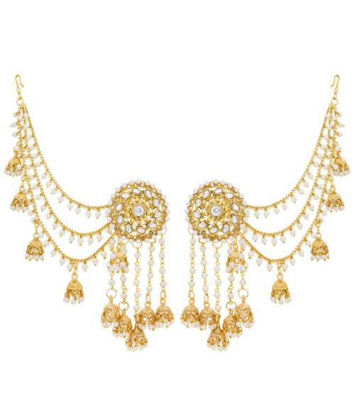 Craftsvilla Gold Plated Alloy Metal Traditional Glass Beads Jhumka Earrings