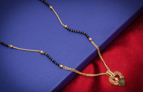 Craftsvilla Gold Plated Alloy Metal Designer Mangalsutra
