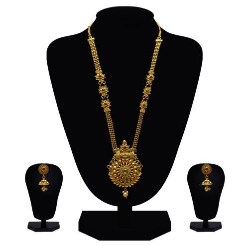 Look Ethnic Gold Plated Long Necklace