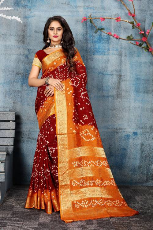 Craftsvilla Multicolor Art Silk Designer Saree With Unstitched Blouse Piece