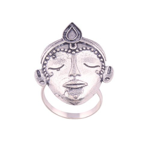 Craftsvilla Silver Color Oxidized Adjustable Casual Ring