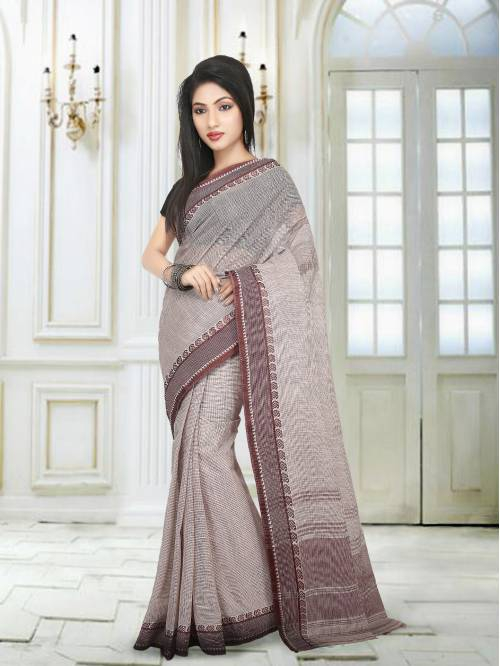 Multicolor Cotton Traditional Saree