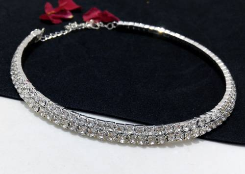 Craftsvilla Silver Plated Alloy Metal Designer Hand Crafted Necklace