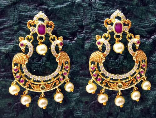Craftsvilla Brass Oxidized Gold Finish Hand Crafted Stud Earrings