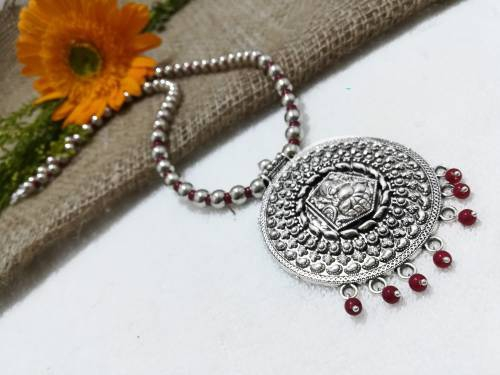 Silver Plated Alloy Metal Traditional Hand Crafted Necklace