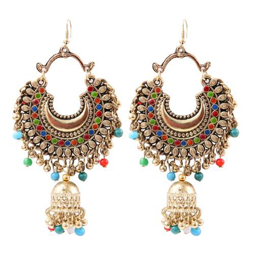 Gold Plated Alloy Metal Hand Crafted Earrings