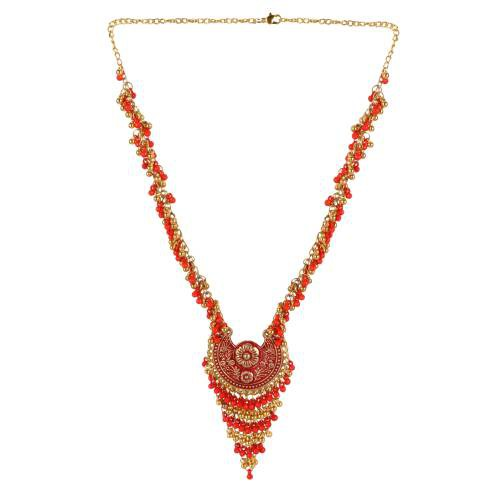 Gold Plated Alloy Metal Designer Hand Crafted Necklace