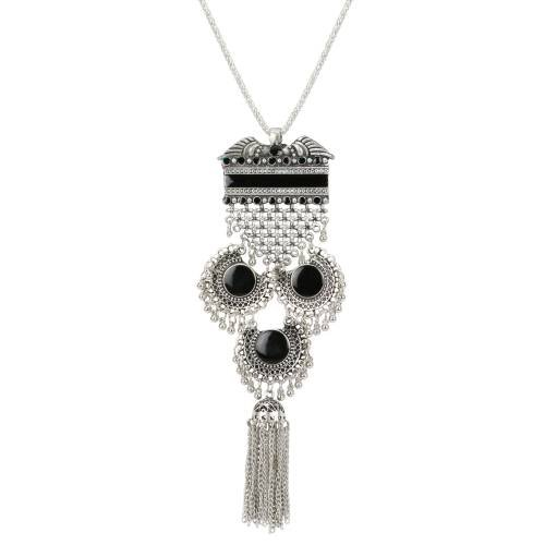 Oxidized Silver Finish Designer Hand Crafted Necklace