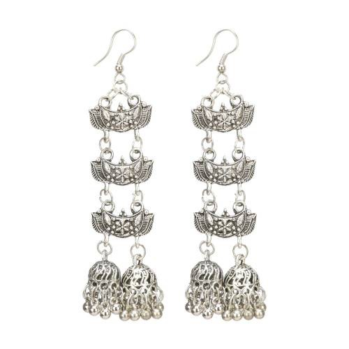 Silver Plated Silver Hand Crafted Earrings