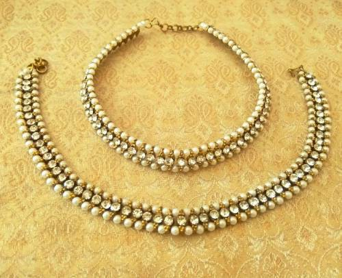 Craftsvilla Oxidized Gold Finish Alloy Metal Designer Bead Work Anklets