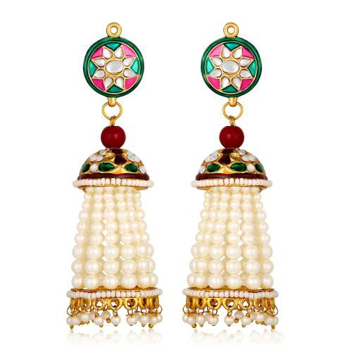 Gold Plated Brass Classic Jhumka Earrings
