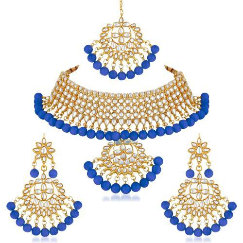 Gold Plated Copper Traditional Kundan Necklace Set