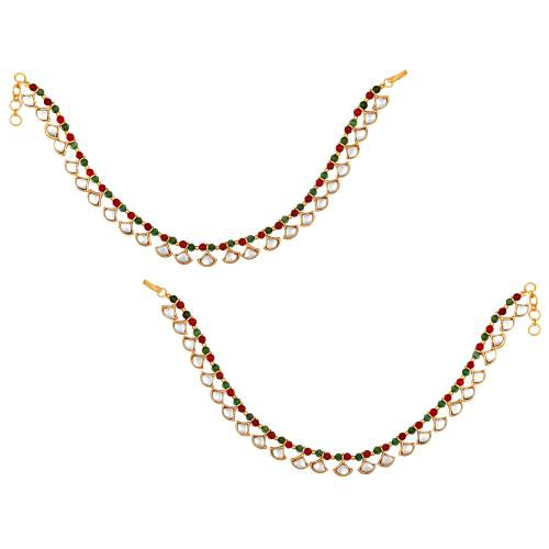 Gold Plated Brass Traditional Anklets