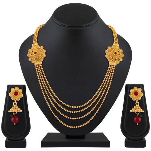 Gold Plated Brass Filigree Necklace Set