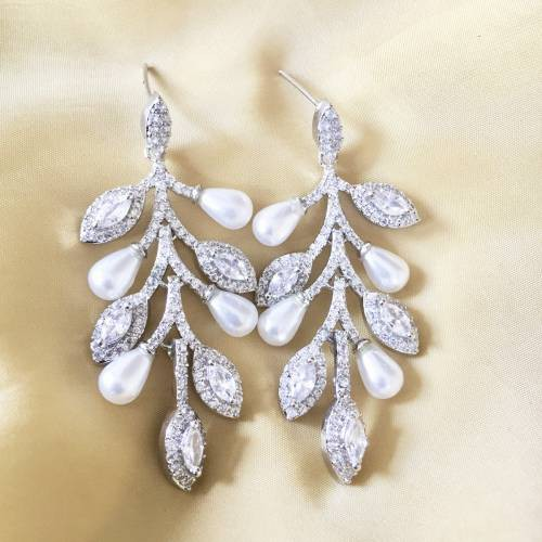 Craftsvilla Silver Plated Brass Fashion Hand Crafted Earrings