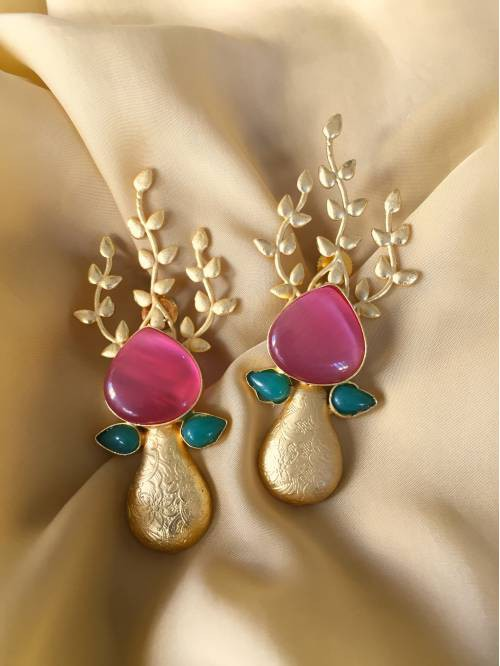 Craftsvilla Gold Plated Brass Hand Crafted Earrings