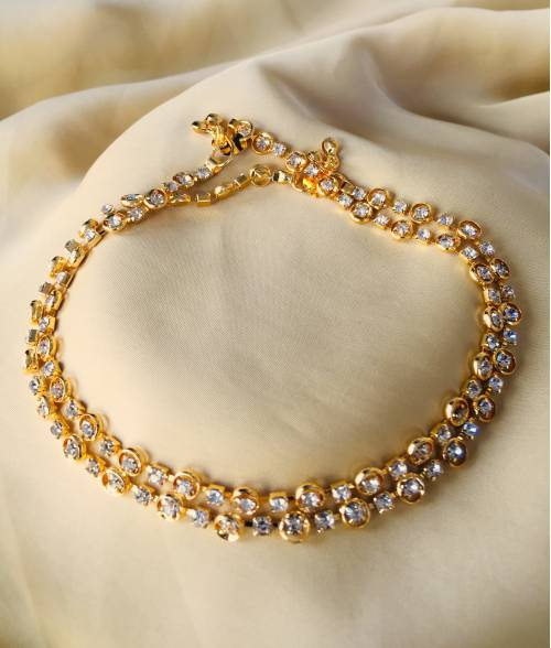 Gold Plated Designer Hand Crafted Anklet