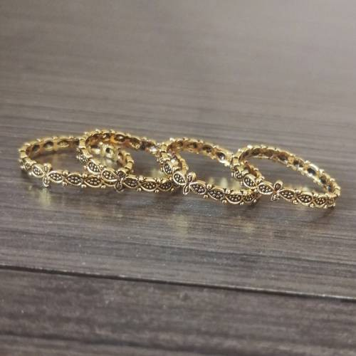 Craftsvilla Gold Plated Alloy Metal Hand Crafted Toe Rings Combo