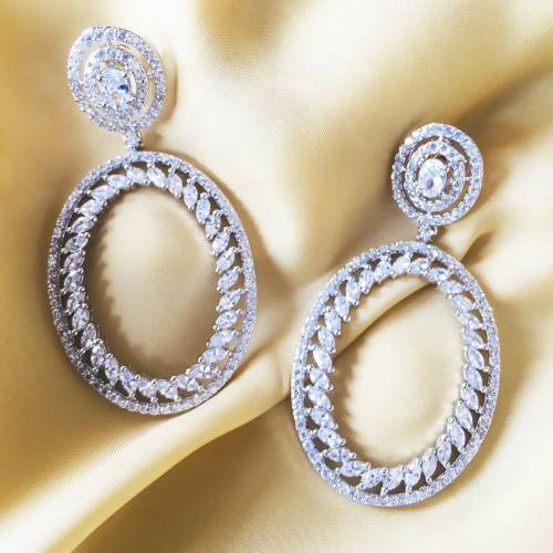 Craftsvilla Silver Plated Brass Classic Hand Crafted Earrings