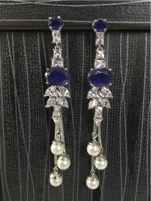 Silver Plated Brass Designer Earrings