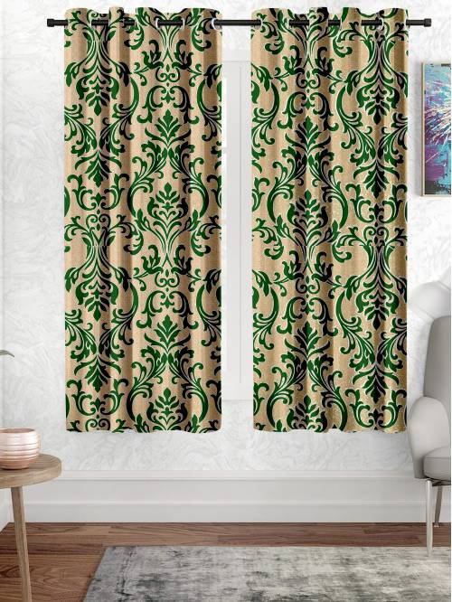 5 Ft. Polyester Knitted Curtain(pack Of 2)