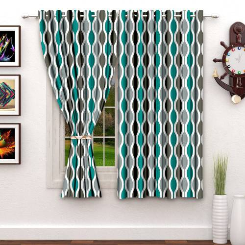 5 Ft. Satin Digital Print Window Curtain(pack Of 2)