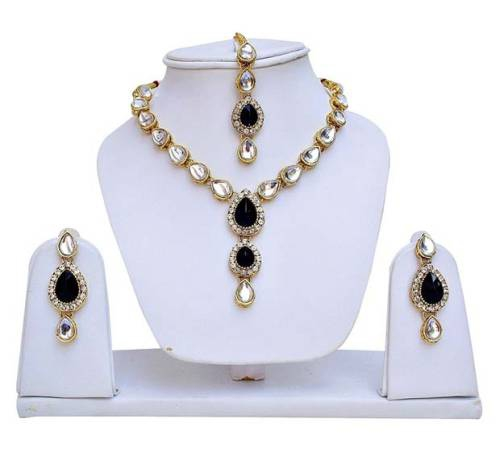 Kundan Necklace Set With Pair Of European Fashion Earrings